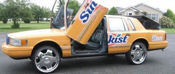 Donk Car sponsored by Sunkist