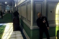 Agent 47 dressed as a priest