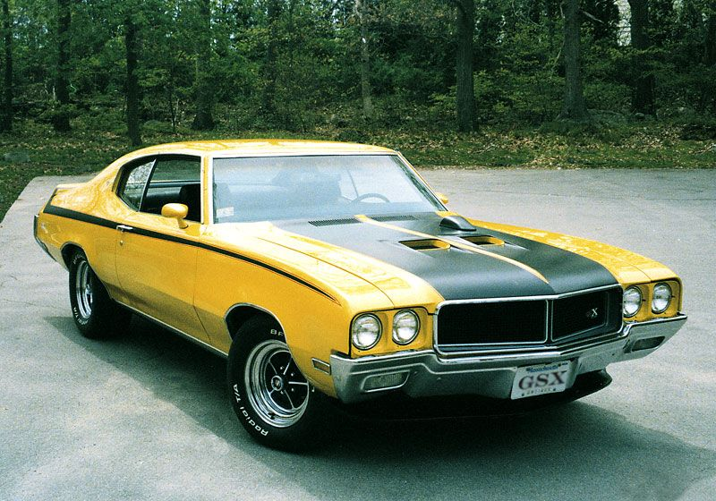 1970 Buick GSX fully optioned muscle cars front