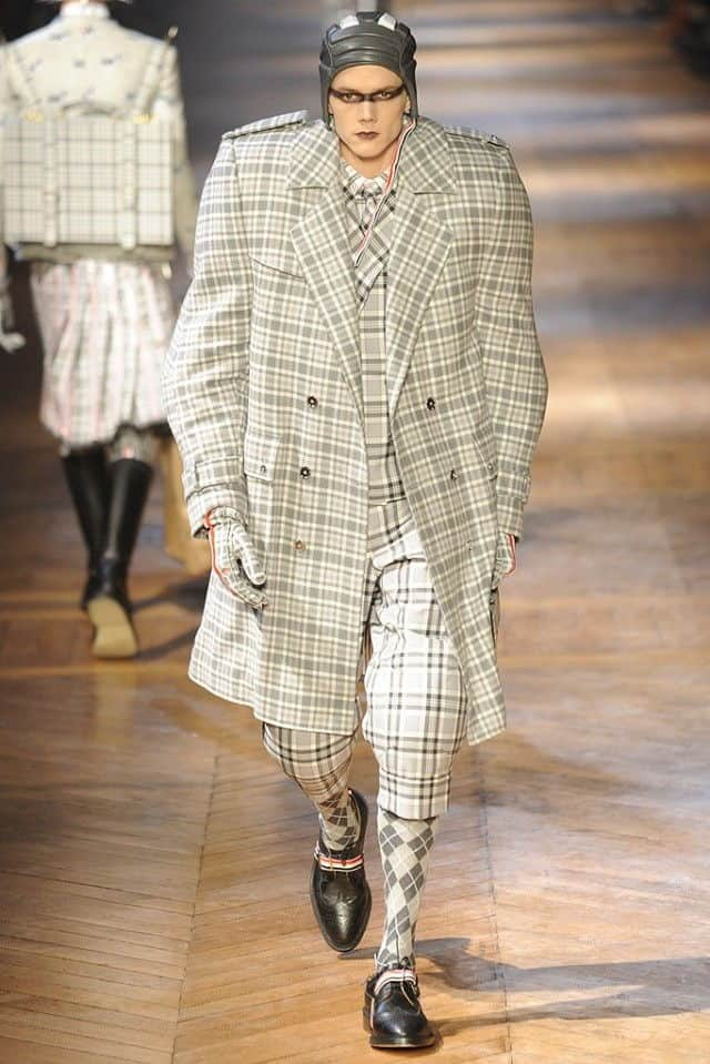 thom browne 2012 plaid suit