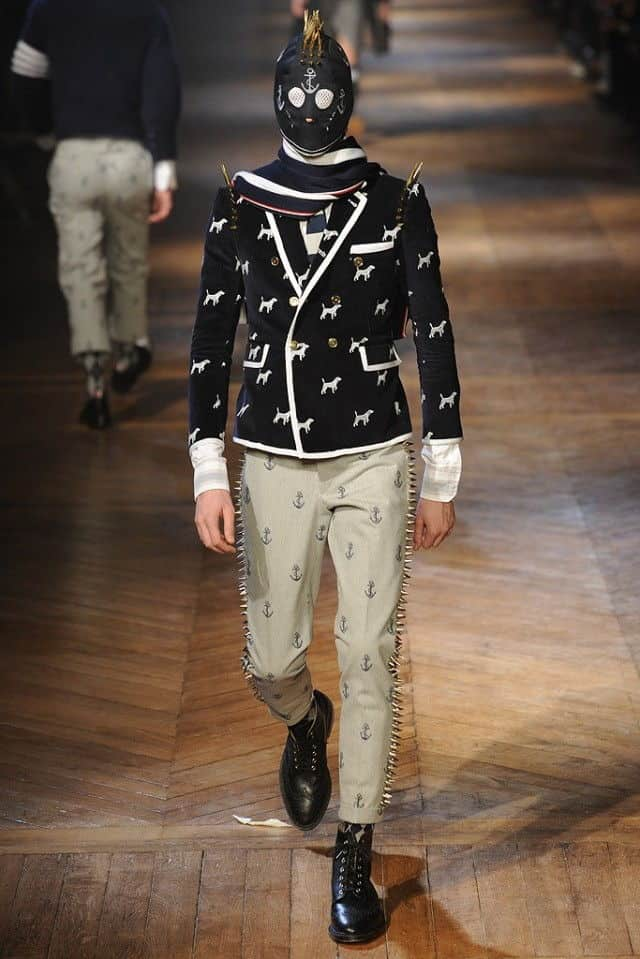 thom browne 2012 dog print jacket