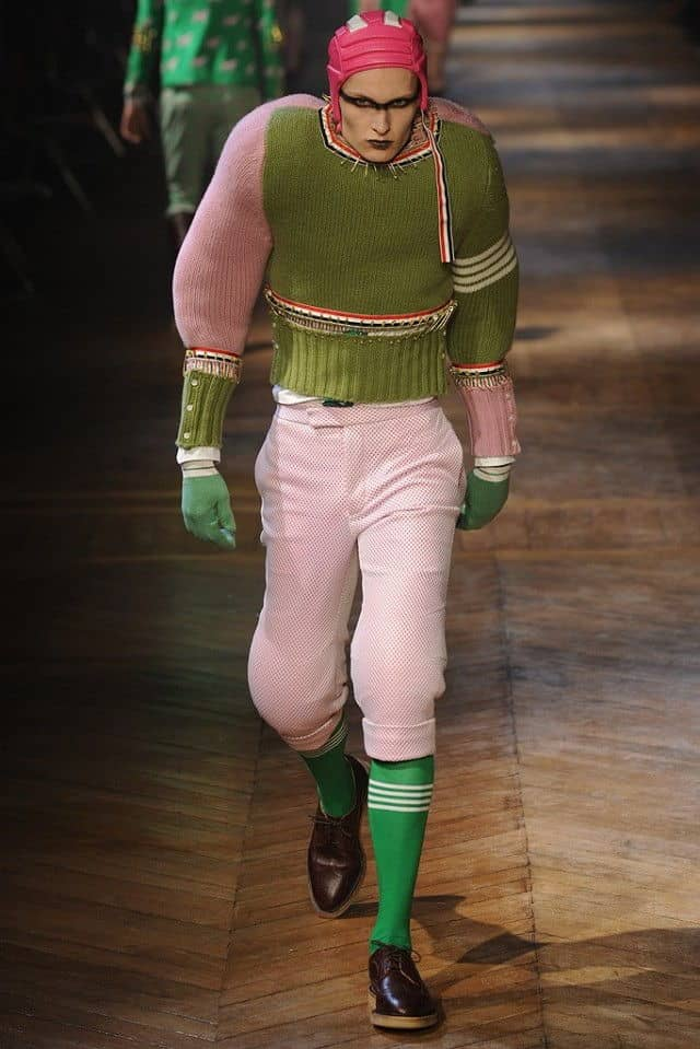 thom browne 2012 green sweater