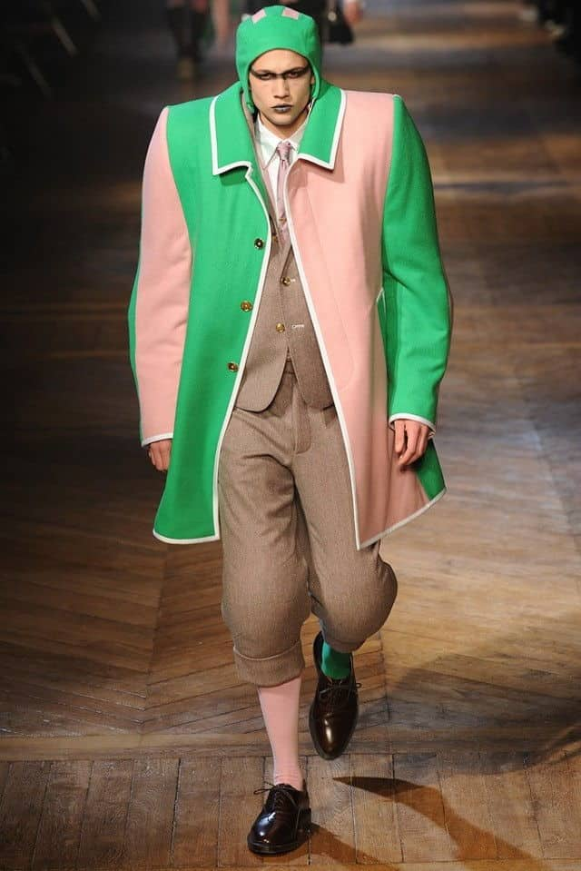 thom browne 2012 pink and green suit