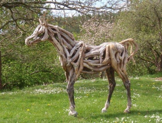 horse standing on grass