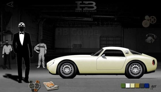 Classic car with modern technology HB Coupe