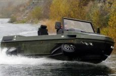 Humdinga amphibious vehicle by Gibbs