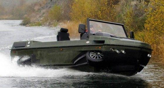Humdinga amphibious vehicle by Gibbs