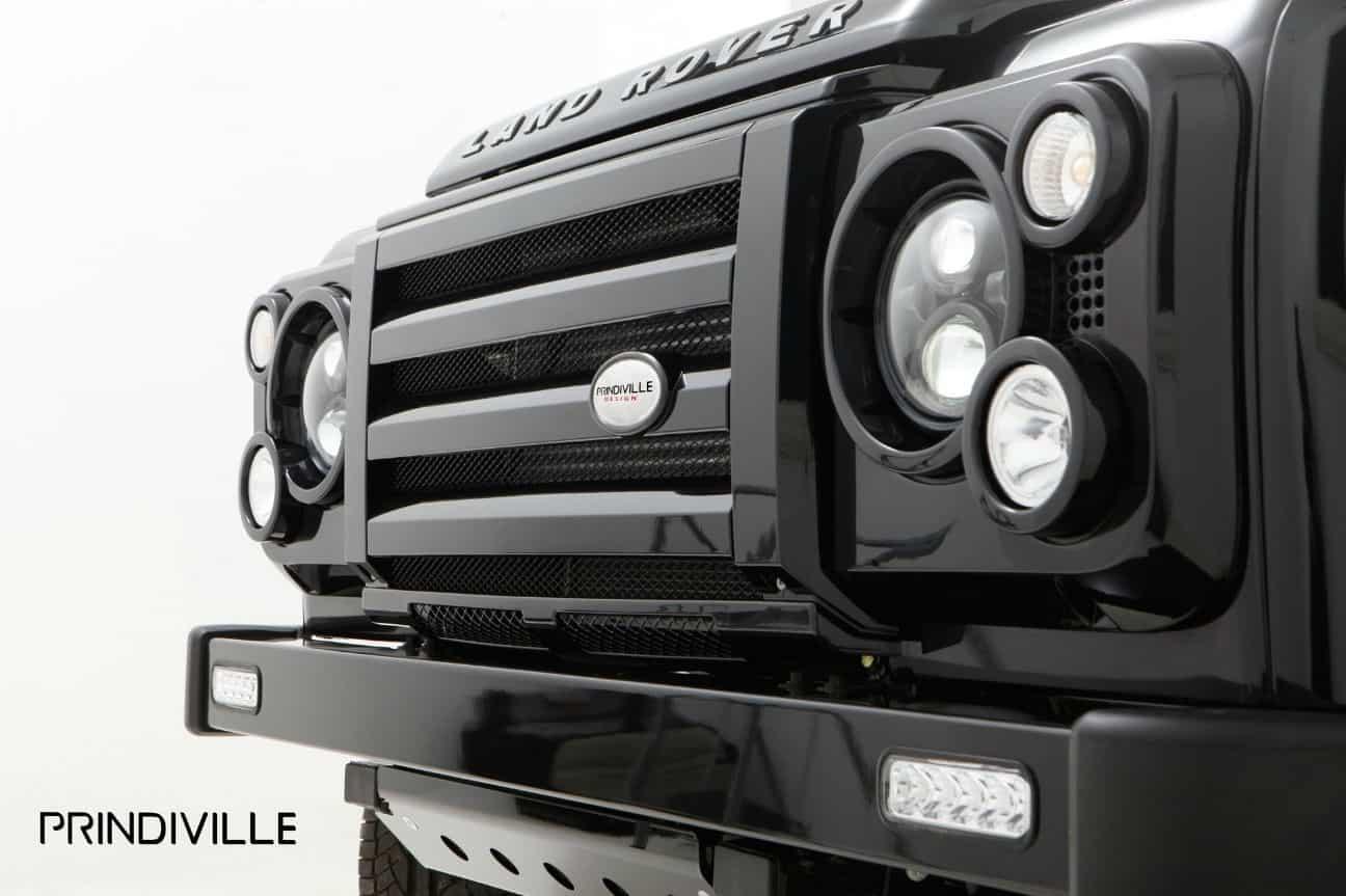 Prindville Land Rover Defender front LED lights