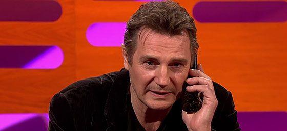 Liam Neeson Leaving a Phone Message