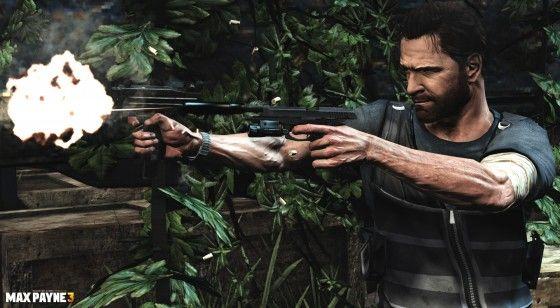 Max Payne shooting enemies