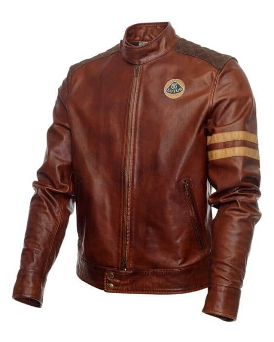 Lotus Originals Heritage leather jacket chestnut brown