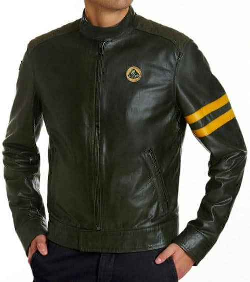 Lotus Originals Heritage leather jacket British racing green