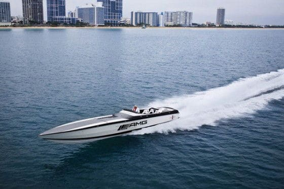2700 Horsepower Mercedes Speed Boat