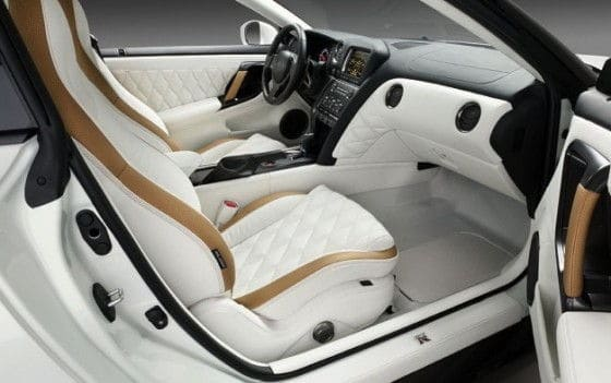 leather interior of Nissan GT-R VVIP