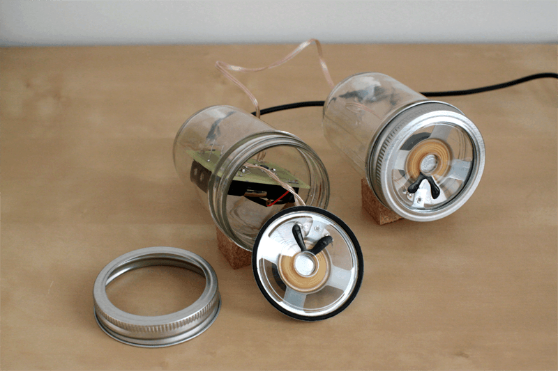 customized man handmade jar speakers