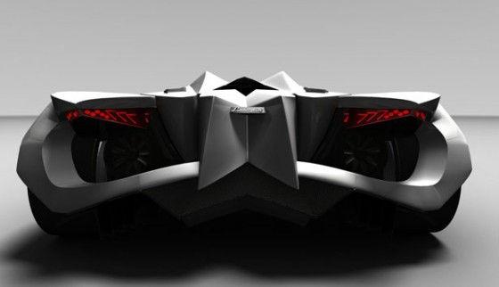 Back of the Lamborghini Ferruccio Concept