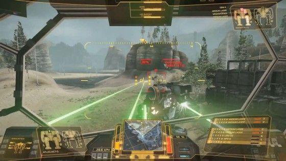 MechWarrior Laser Battle