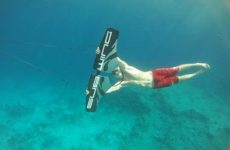 subwing and man underwater