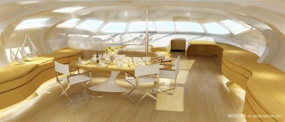 Interior concept of Adastra Yacht