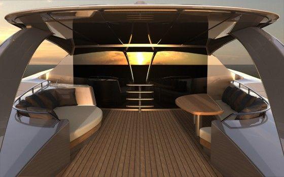 Luxury Adastra Yacht Deck