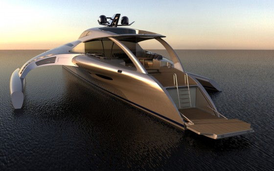 the back side of Adastra yacht