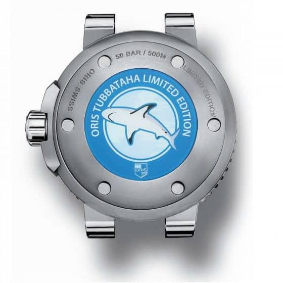 Oris Tubbatah dive watch case-back