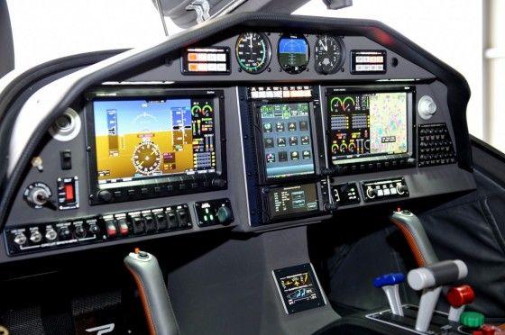 Pilots cockpit of Panthera Aircraft