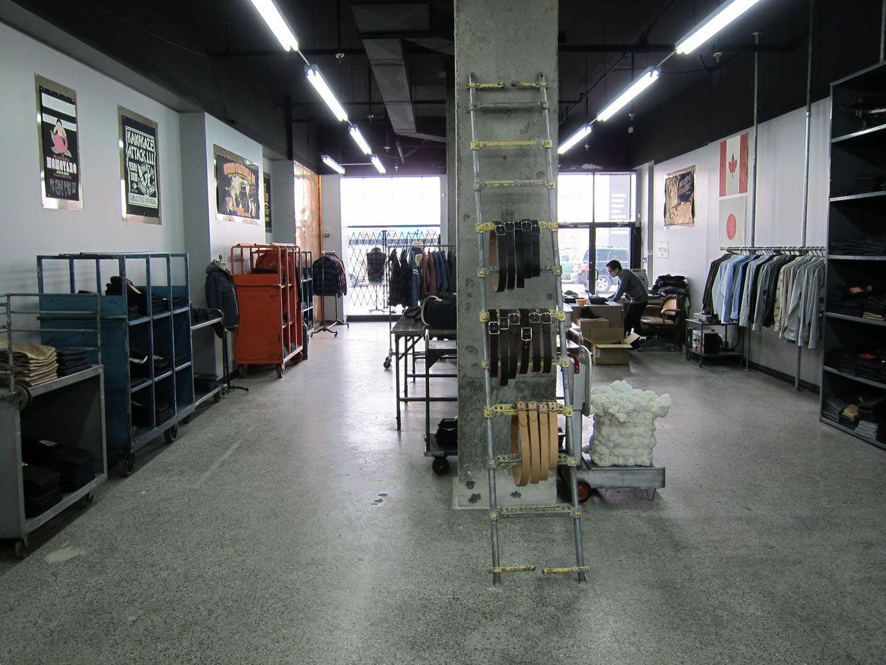 inside denim store