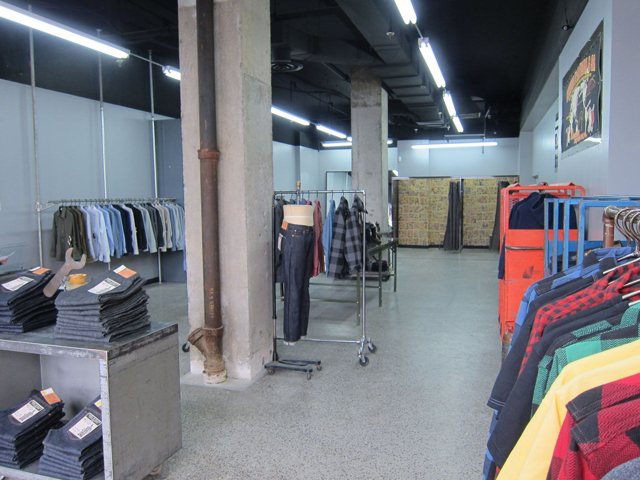 front of denim store