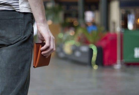Noah Lambert Wallet in hand