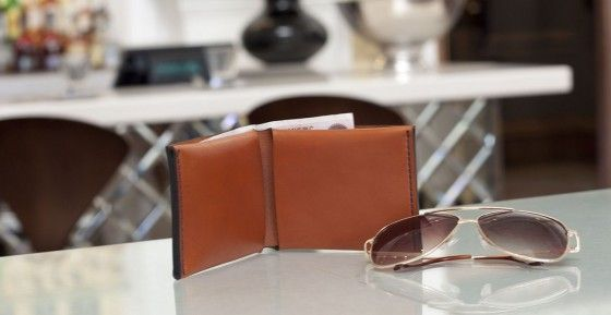 wallet with sunglasses