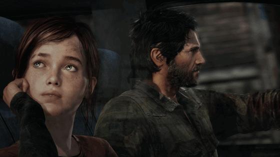 Joel and Ellie in Truck