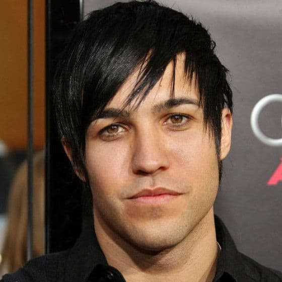 Pete Wentz with his Emo haircut