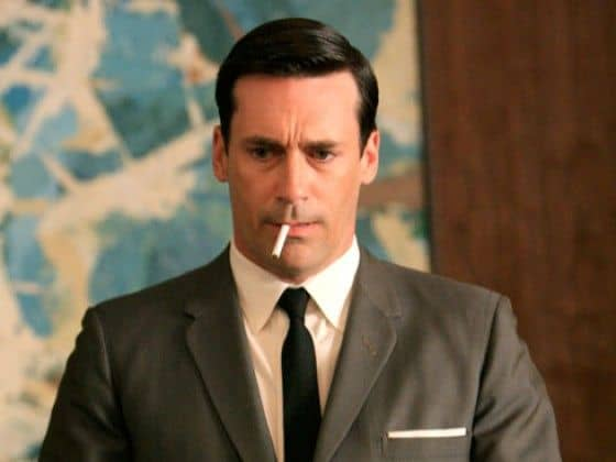 Mad Men classic comb over haircut