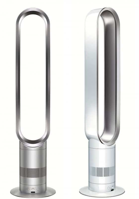 Dyson Air Multiplier white and silver fans