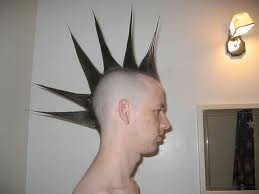 Guy with liberty spike hair