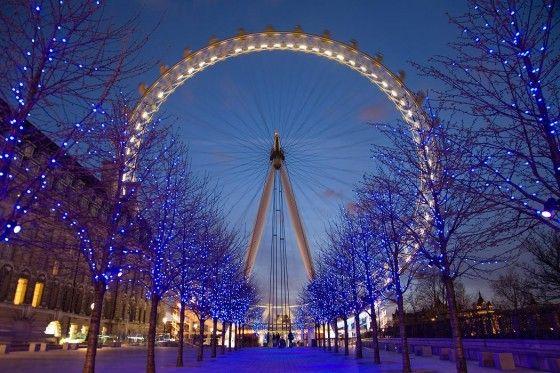 London Eye Wheel in London, England