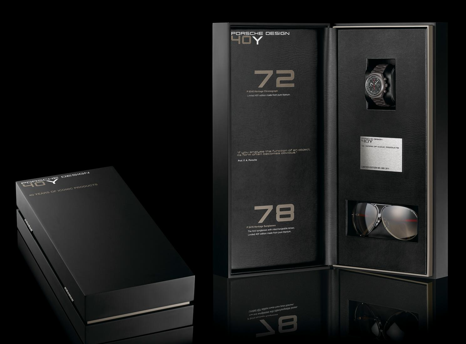 Porsche Design 40y Of Iconic Products Set Unfinished Man