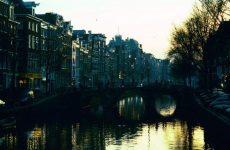 Dark Canal in Amsterdam