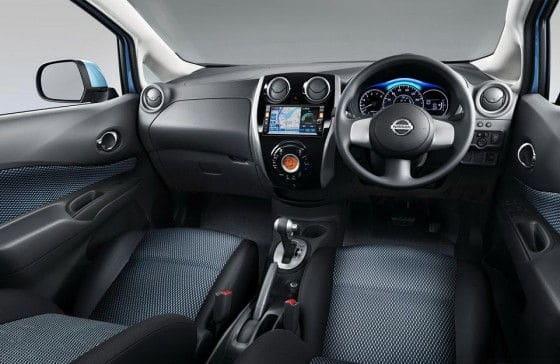 Interior space of Nissan Note