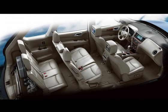 Interior of 2013 Nissan Pathfinder