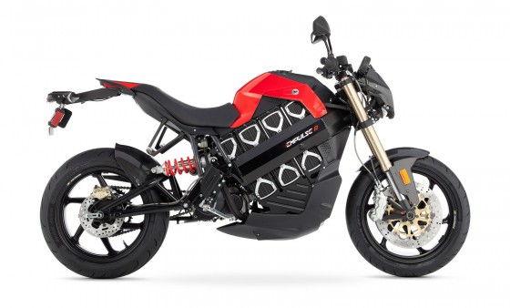 Side view of Brammo empulse R electric bike