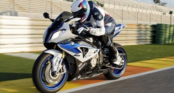 BMW HP4 racing on the track
