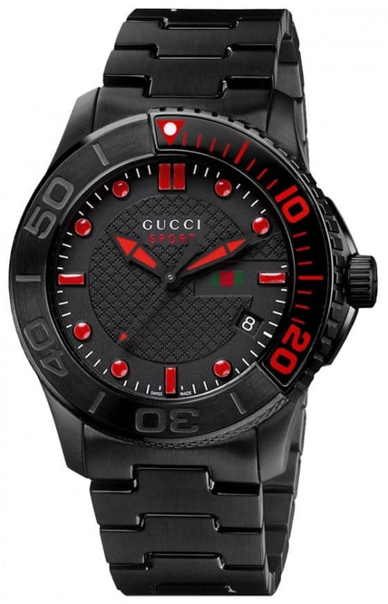 Gucci G-Timeless Sport watch black pvd