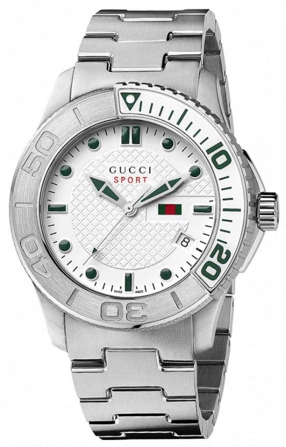 Gucci G-Timeless Sport watch white steel with bracelet