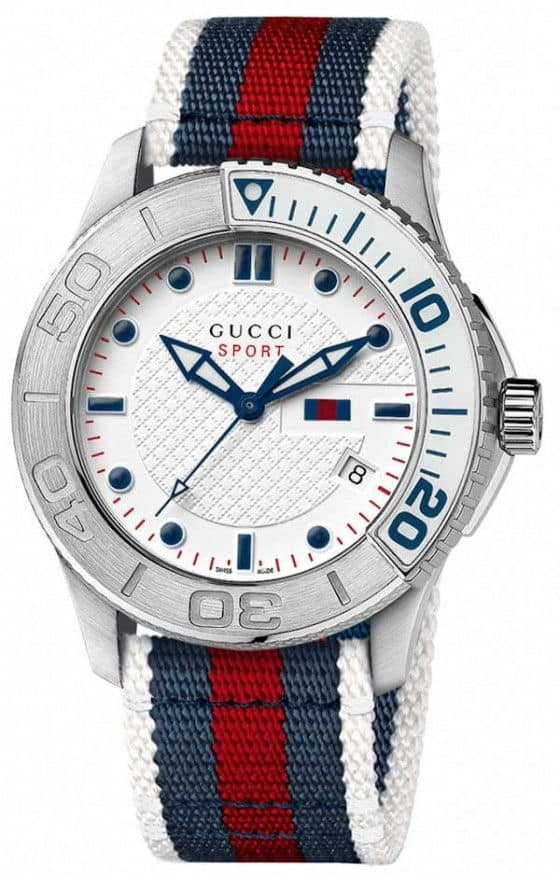 Gucci G-Timeless Sport watch white steel