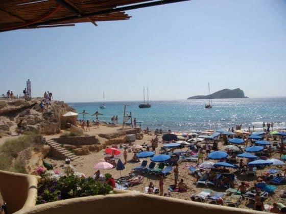 Ibiza Spain beach with a view