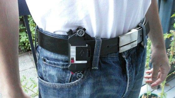 Capture Camera Clip system on belt around waist