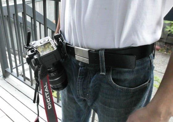 Capture Camera Clip System on belt