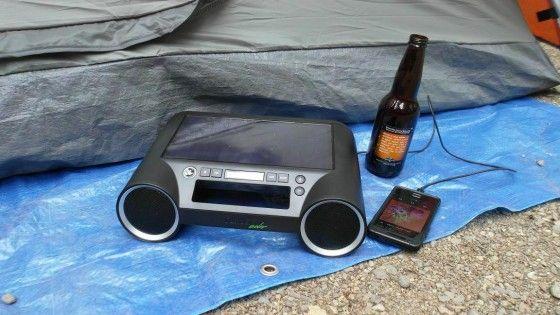 Eton Rukus bluetooth speakers used at camping trip